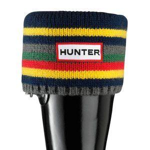 Hunter Fleece Welly Sock Multicolor Striped Cuff S